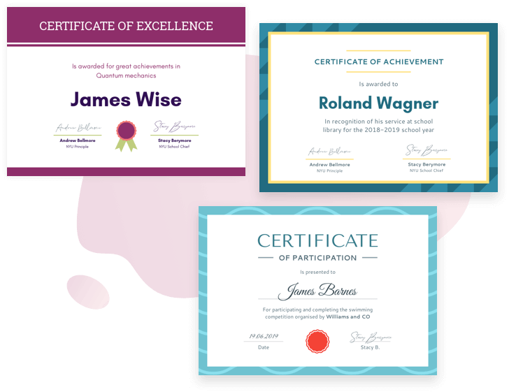 Choose a certificate template to get started